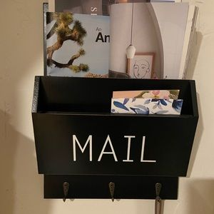 Adorable mail holder with hooks